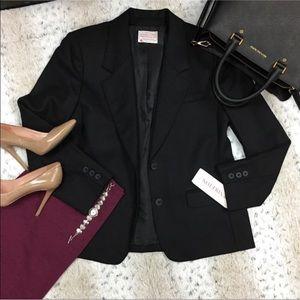 Vintage Pendleton Black Wool Blazer Size: 14